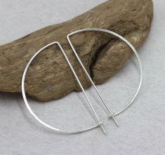 Sterling Silver Hoop Earrings Big Hoop Earrings Large Hoop