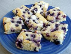 """Growing up, this was always one of my favorite """"after-school-snacks"""" that my mom would make.I love anything with blueberries!This recipe comes from a Taste of Home Cookbook that I own.BLUEBERRY SNACK CAKE2 cups all-purpose flour1-1/2 cups sugar1/2 cup cold butter or margarine1 tsp baking powder1 cup milk2 eggs, separated2 cups fresh or frozen blueberries**In a …"""