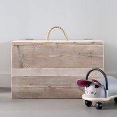 Speelgoedkist Steigerhout online bestellen | Klein & Stoer speelgoedkist webshop