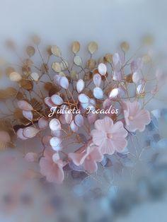 Esmalte Head Accessories, Wedding Accessories, Fascinator, Headpiece, Beaded Ornaments, Wire Weaving, Ceramic Jewelry, Fabric Flowers, Decoupage