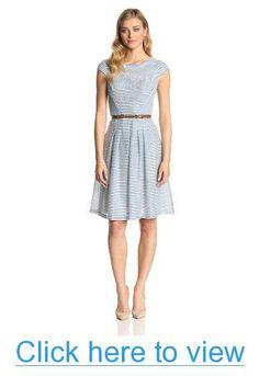 Anne Klein Women's Newport Stripe Day Dress #Anne #Klein #Womens #Newport #Stripe #Day #Dress