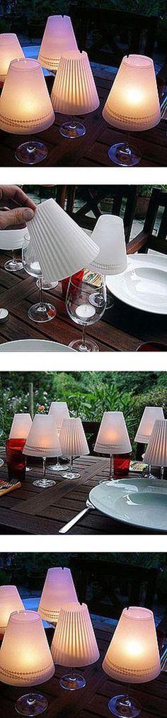 Great Party Idea poner vasos de plastico de tulipa o ...