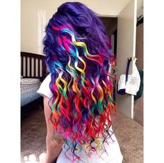 Color Pretty Hair Color, Beautiful Hair Color, Wild Hair Colors, Bright Hair Colors, Cute Hair Colors, Hair Designs, Dyed Hair, Colored Hair, Curly Hair Styles