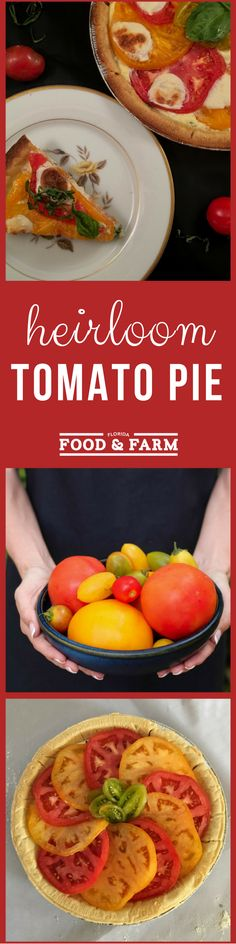 Take advantage of the summer produce and enjoy this recipe for Heirloom Tomato Pie