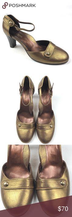 ab7b39976444 TARYN ROSE shoes 40 10 metallic bronze ankle strap TARYN ROSE women s  metallic bronze shoes.