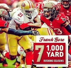 9ef3861a5 Frank the Tank Gore...can t be stopped! ! Niners Girl