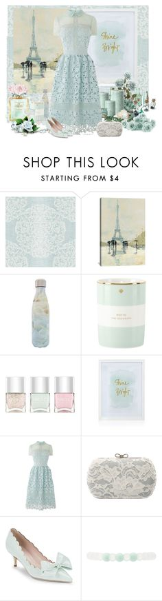 """""""Shine Bright"""" by molly2222 ❤ liked on Polyvore featuring York Wallcoverings, iCanvas, S'well, Kate Spade, Nails Inc., Chanel, WALL, Warehouse, Charlotte Russe and lace"""