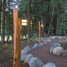 Eastern red cedar light post lumberjocks projects pinterest rustic path lighting aloadofball Images