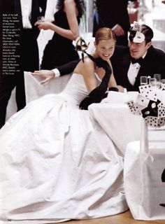 """Having A Ball"", Vogue US, December 1997  Photographer : Steven Meisel"