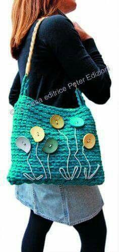 Design Idea - no pattern Crochet Hand Purse, Bag Crochet, Crochet Handbags, Crochet Purses, Handmade Handbags, Handmade Bags, Tote Purse, Clutch Bag, Fabric Purses