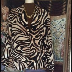 """Work Week Chic"" HP Animal Print Blazer  Beautiful animal print blazer in browns and tans. Perfect for Fall & Winter. Great with slacks, jeans, or skirts! New with tags, never worn. Extra buttons. Pockets too. Fully lined. Machine wash - cold. Very classy and classic! Chicos size 2 = 10-12 misses. Chico's Jackets & Coats Blazers"