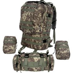 Large Outdoor Backpack and Flashlight Bundle