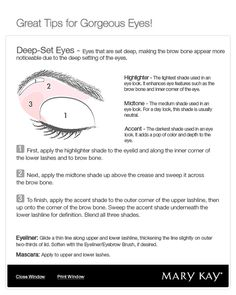 """for my deep set eyes. i had a make up artist ask me one time if i """"liked my eyes."""" seriously."""