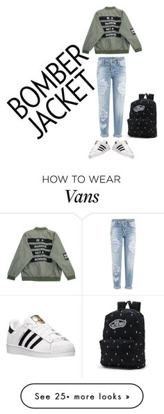 """""""Bomber jacket"""" by hkaylene-robinson on Polyvore featuring Dsquared2, Chicnova Fashion, adidas and Vans"""