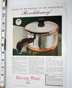 1939 Vintage Print Ad, Revere Ware, Revolutionary, Authentic Original