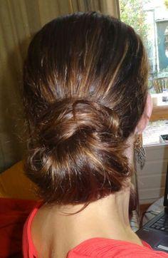 Hair-crossed bun