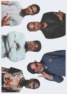 Kid Cudi, Kanye West, Big Sean, Pusha T and 2 Chainz. G.O.O.D. Music