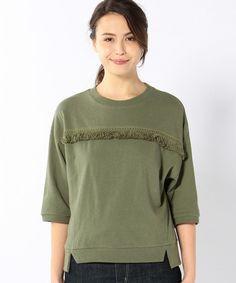 coen WOMENS(コーエンウィメンズ)の【Market】フリンジ7分袖プルオーバー(Tシャツ/カットソー)|詳細画像