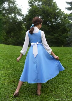 Special Section Disney Store Belle Peasant Blue Outfit Dress Live Beauty And The Beast Ture 100% Guarantee no Doll