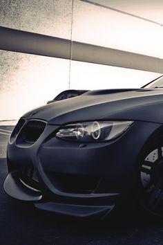 E92 BMW M3: Black on black on black.
