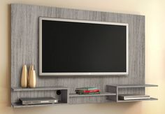 Creative Simple TV Wall Decor Idea for Living Room Design - Pajero is My Dream