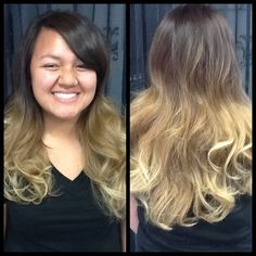 A very lovely, romantic ombre by our very own stylist Jasmin. Thank you Kassandra for letting us take this beautiful After picture! :)