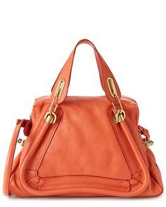 "Chloe ""Paraty"" Medium Leather Satchel is on Rue. Shop it now."