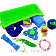 Our new On the Go Sensory Tools for Skin Pickers Kit™ features an amazing assortment of innovative fidgets hand-selected by our occupational therapists and individuals who struggle with skin picking. Designed to help with the urge to pick skin, this one-of-a-kind skin picking kit comes in a nubby, rubbery take-along fidget pouch that makes a great squeezy tactile fiddle tool in itself! You'll love this exclusive Therapy Shoppe® kit that was created especially for those who have…
