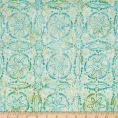 Tonga Batik Sea Glass Ikebana Pacific Blue