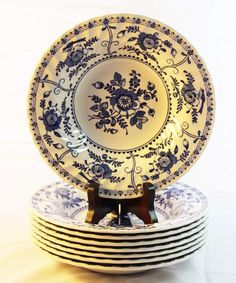 8 Blue Indies Johnson Brothers Rimmed Soup Bowls 8 1/2 inch Flower Floral NICE  sc 1 st  Pinterest & 4 Precidio Melamine 11\
