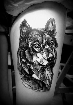 5d592c157d8bb Výsledek obrázku pro wolf tattoo Arrow Tattoos, Wolf Tattoos, Tattos,  Tattoos For Guys