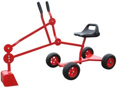 Sand Digger Toy Backhoe With Wheels, Dig in Sandbox, Beach, Snow, Dirt. for Ages 4-12 (Red). 4 WHEELS so your child can move the sandbox backhoe around the play area with ease. HEAVY DUTY STEEL in the durable bucket and arms and base. Weight Limit 120 lbs. Toy weighs 14 lbs. ROTATES 360 DEGREES, dig like an excavator in all directions with the moving arms and bucket. 30 DAY MONEY BACK SATISFACTION, 1 YEAR BREAKAGE WARRANTY on the powder coated outdoor toy. For 3 YEAR OLD to 12 YEAR OLD...