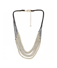 Five Strand Silver Bead Necklace #shoplately