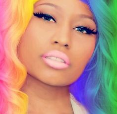 nicki minaj rainbow colors