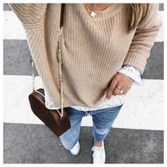 """6,320 Likes, 59 Comments - Clara (@theworkinggirl) on Instagram: """"#FROMWHEREISTAND • Knit from @lullisurlatoile by#mesdemoiselles • Top from @sweeties.by.aude.d •…"""""""