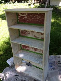 DIY Bookcase: The Shoecase DIY Bookcase with tape