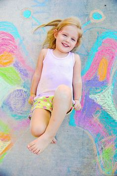 Summer Fun - Sidewalk Chalk Art