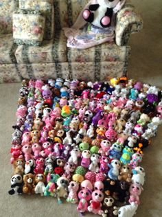 My 140 Beanie Boos!!! And more to come!