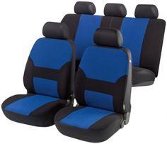 Autositzbezug Porto blau/schwarz