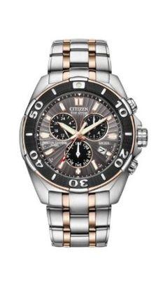 Citizen Mens BL5446-51H The Signature Collection Eco-Drive Perpetual Calendar Chronograph Watch