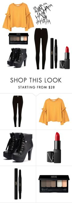 """it aint me"" by tanyanangpal ❤ liked on Polyvore featuring River Island, MANGO, NARS Cosmetics, Yves Saint Laurent and MAKE UP FOR EVER"