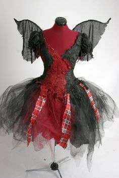 Punk Pixie  Gothic Fairy Dress  Made to Order by Deconstructress, $299.00