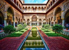 10 Game Of Thrones Film Locations Fans Must Visit Alcazar de Sevilla, Spain Alcazar Seville, Destinations, Seville Spain, Andalusia Spain, Voyage Europe, Islamic Architecture, Spain And Portugal, Filming Locations, Patio