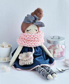 Motya: interior doll cloth doll handmade doll fabric doll