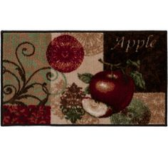 embroidered red apple jubileethe_curtain_shop. $19.99