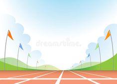 Illustration about Illustration of empty running track. Illustration of empty, athlete, sport - 14501544 Running Track, Empty, Flag, Illustration, Art, Gaming, Art Background, Track Field, Illustrations