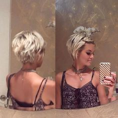loving this thank you Short Blonde Haircuts Short Layered Haircuts, Cute Hairstyles For Short Hair, Thick Short Hair Cuts, Layer Haircuts, Edgy Pixie Hairstyles, Messy Short Hair, Blonde Haircuts, Haircut And Color, Short Blonde