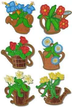 Advanced Embroidery Designs - Watering Can Applique Set