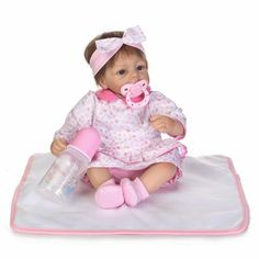 Kawaii Baby Doll Gift 16inch BeBe Reborn Toys 40cm Soft Silicone Reborn Doll Lifelike Newborn Babies Alive Doll Toys For Kids #Affiliate