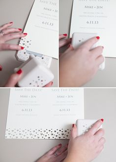 I love this idea! Cute for wedding stationary, change up the punch design to coordinate to different seasonal cards/stationary!